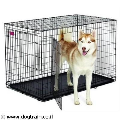 כלוב אילוף רשת לכלבים מגזע ענק